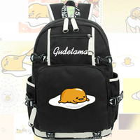 Wholesale Egg Backpack - Gudetama backpack Lazy egg daypack Idle omelette schoolbag Anime rucksack Sport school bag Outdoor day pack