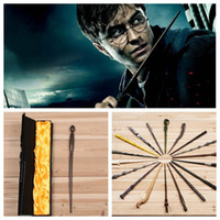 Wholesale Wholesale Harry Potter Wands - harry potter Magical Wand dumbledore Hogwarts wand cosplay wands Hermione Voldemort Magic Wand In Gift Box 36cm 18 design KKA551