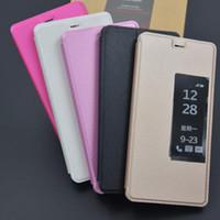 Wholesale Cheap Flip Phones Wholesale - Cheap Open Window Leather Flip Coque Case for Huawei P10 Mobile Phone Cover Capa Cases Bag Capa Caso Wholesale