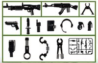 Wholesale Weapon Accessories - Military Series Guns Weapons SWAT CITY Police Body Armor Army Minifigures Assemble Accessories Building Blocks Kids Toys Gifts