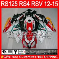 aprilia rsv weiße verkleidungen großhandel-Einspritzung für Aprilia RS4 RSV125 RS125 12 13 14 15 RS125R 12-15 RS-125 72HM11 RS125RR RSV 125 RS 125 2012 2013 2014 Verkleidung rot weiß
