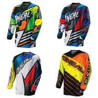 Wholesale Bmx Jersey Xl - 2017 New green red black Moto GP Mountain Bike Motocross Jersey BMX DH MTB T Shirt Clothes orange