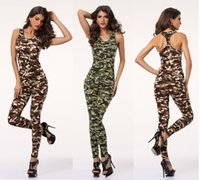 Ladies Sexy 2pc print Animal Army Tight Fit Bodysuit Catsuit Jumpsuit clubwear cosplay fantasia vestido HLX6870 S-L
