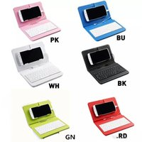 Wholesale keyboard cases for tablets - 5.5 Inch Mobie phone or above Micro USB with OTG Universal Phone Case PU Keyboard Holster Sleeve for Tablet