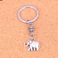 Wholesale Men Elephant Ring - New Arrival Novelty Souvenir Metal two sided elephant Key Chains Creative Gifts Apple Keychain Key Ring Trinket Car Key Ring