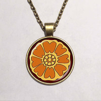 Wholesale Avatar Movie - popular movie avatar the last airbender pai sho white lotus necklace fashion handmade pendant