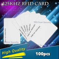 control de acceso 125khz rfid al por mayor-Resistente al agua 100 unids 125 Khz ID RFID Tarjetas de Proximidad Grosor Alta Calidad Nuevo Control de la Puerta de Entrada de Acceso de la tarjeta EM 0.9mm