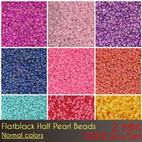 Wholesale Pearl Bead Flat Back - Free shipping Wholesale price China ABS Flat Back Half Pearl Beads 2mm Normal Color with top quality