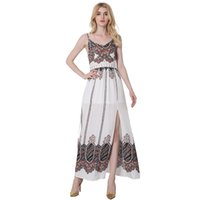 Wholesale Stylish Clothes For Women - 2017 Newest Super Natural Casual Long Dress Summer Dresses Bohe Stylish Floral Printed Sexy Prom Backless for Women Vestidos Clothes