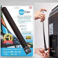 Wholesale Digital Tv Hdtv Antenna - New Clear Tv key HDTV digital indoor antenna sleek slim design hidden behind TV,Get broadcast tv