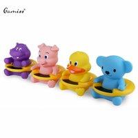 Wholesale Baby Bath Temperature Toy - Wholesale- Newly Creative Cute Cartoon Crocodile Baby Infant Bath Tub Thermometer Water Temperature Tester Toy Children's Health Care