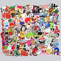 Wholesale Moto Decals - 300 Pcs Mixed Funny Cartoon Stickers for Laptop Skateboard Snowboard Luggage Toys Home Decor Brand Car Bike Moto Decal Doodle Jdm Sticker