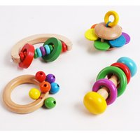 Wholesale Form Flowers - Wholesale- D735 Children's toys flowers form a bell and exquisite bell bell log rainbow grip Four optional