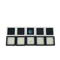 Wholesale diamonds box packaging - 100Pcs Plastic Loose Diamond Display Package Box Square White Gem Case Black White Foam Pad Beads Pendant Box White Gem Showcase 3*3*2 cm