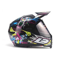 casques vtt point achat en gros de-TKTKOSM Motocross Casque de moto Full Face off Road VTT Dirt Bike Descente MTB DH Racing Casque Cross Casque Capacetes DOT Capacete