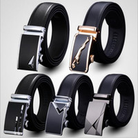 Wholesale Men Design Belts - 80 designs belt MEN'S Genuine Leather belts Waist Strap Belts Automatic Buckle Black leisure business leather belts YYA163