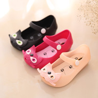 Wholesale Cat Girl Shoes - factory direct sales cute kids shoes cheap summer cat jelly shoes kids pvc shoe children sandal