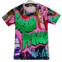 ingrosso stampe del principe-Maglietta casual estiva più divertente per principianti di Bel Air da donna / uomo Fresh T-Shirt a maniche corte T-Shirt estiva S-5XLKK71