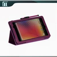 caso protector nexus al por mayor-Venta al por mayor de cuero de la PU funda protectora del tirón del soporte para 7 pulgadas ASUS Google Nexus 7 2013 II 2 tableta de segunda generación con el sueño de la estela