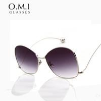 Wholesale Ice Sunglasses - Retro Nerd Classic Oversized Versae Sunglasses Women Men UV400 Vintage Aviator Sun Glasses Rose Gold Fashion Ice Snow Sunglasses STY831