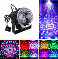 Голосовое управление RGB LED Stage Lamps Crystal Magic Ball Sound Control Лазерный сценический эффект Light Party Disco Club DJ Light
