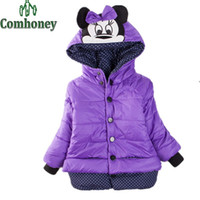 Wholesale Sleeveless Jacket For Boys - Jacket For Girls Overcoat Minnie Mouse Princess Children Winter Down Jacket Bebes Parka Snowsuit Coat Baby Outwear