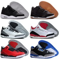 Wholesale Heals Shoes - 3 White Cement Black Cement Wolf Grey Metallic Wholesale Men Basketball Shoes Mixed Order accepted euro 41-47 free shipping