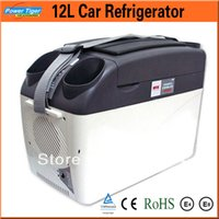 Wholesale Travelling Freezer - Wholesale-12L Car Refrigerator 12v portable Cooling And Heating fridge freezer Mini refrigerator Cooler Box for Home Travel 5238C