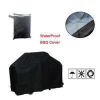 Wholesale Bbq Charcoal Grills - Wholesale-5 Size Black Outdoor Camping Waterproof BBQ Cover Rain Barbecue Grill Protection Shield Gas Charcoal Electric Barbeque Grill