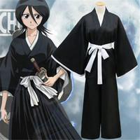 Wholesale Rukia Cosplay - Anime BLEACH Cosplay Clothing Halloween Samurai Clothing Kuchiki Rukia Cosplay Costumes