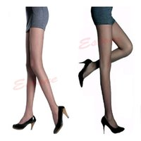 Wholesale Girls Sheer Panties - Wholesale- Sexy Semi Sheer Full Foot Women Thin Pantyhose Panties Stockings Legging for Women Ladies Girls