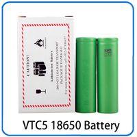 Wholesale Electonic Cigarettes - Hot VTC5 18650 US18650 3.7V 30A 2600mAh VTC5 High Drain Rechargeable Battery For Electonic Cigarette