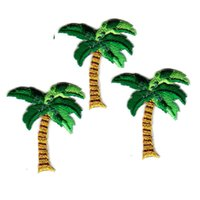 Wholesale Clothes Brand Iron Patches - AIMELANG Brand New 10PCS Embroidery Coconut Tree Sew Iron On Patch Badge Bag Clothes Fabric Applique