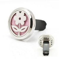 9 Styles Flower Car Perfume Locket 30mm Magnetic 316L Нержавеющая сталь Ваш садовый автомобиль Aroma Essential Oil Diffuser Locket With Free Pads
