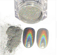 Wholesale Rainbow Dust - 1g Box Shiny Laser Powder Holographic Nail Glitter Dust Rainbow Chrome Pigment Manicure Pigments Nail Art Decorations