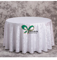mantel damasco al por mayor-Bonito Jacquard Damask Table Cloth / Mantel de Boda Barato