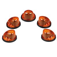 5pcs Roof Cab Marker Light Amber Lens / Cover + 5xBlack Base para 73-87 Chevy K10 / 20/30