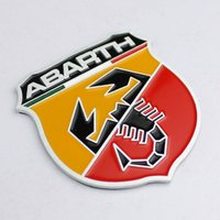Car styling Brand New Refitting Metal Adhesive 3D Badge Emblem Sticker Sticker para Fiat Abarth 124/125/125/500