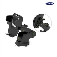Wholesale car phone holder for sale - Easy One Touch Degree Rotating Car Mount Smart Phone Holder Handfree Dashboard Phone Rack for all Kinds of Cellphone with Package