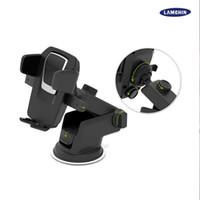 car phone holder großhandel-Einfache One Touch 360 Grad Auto Halterung Smart Phone Halter Handfree Dashboard Telefon Rack für alle Arten von Handy mit Paket