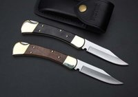 Wholesale Buck Hunting - buck 110 knife single action hunting knife xmas gift knife for man 1pcs