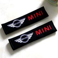 Wholesale point pad - 2pcs set Mini cooper Seat Belt Cover Shoulder Pad Car Safety Belt Soft Strap Protection Ceinture