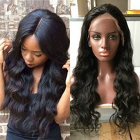 Wholesale Classic Indian Wave - Classic Style Body wave Full Lace Human Hair Wigs for Black Women Brazilian hair color Lace Front Wig