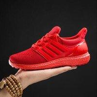 красная удобная обувь оптовых-2017 мужчины Повседневная обувь Мода искусственная кожа твердые плоские удобные дышащие суперзвезда тренеры Красное дно ультра повышает Zapatillas,size35-45