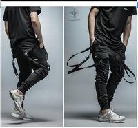 Wholesale Plus Size Pants Skinny Women - 2017 New Dry Men's Pants pocket Full Length Men HIPHOP joggers Pants Plus Size Trousers men belt women streetwear