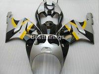 kits de carenado kawasaki del mercado de accesorios al por mayor-Aftermarket partes del cuerpo kit de carenado para Kawasaki Ninja ZX7R 1996-2003 carenados de plata negro conjunto ZX7R 96-03 TY53