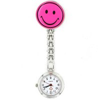 Wholesale Analog Smile - 2016 Fashion Nurse Watch Smile Face Stainless Steel Medical Watches Brooch Pendant Hanging Pocket Watches Doctor Watches