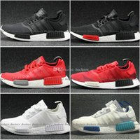 Wholesale 2017 NMD Runner Shoes NNM_R1 Monochrome R Mesh Primeknit Triple White Black NMD R1 Women Men Running Shoes Sneakers Sports Shoes