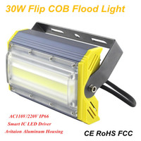Wholesale House Floodlights - 30W Ultrathin COB LED Floodlights Aviation Aluminum Housing New Brand IP66 LED Outdoor Project Lamp Square Parking Lot Wall Wash Lighting