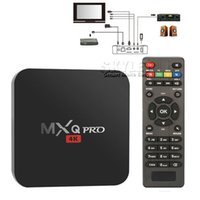 MXQ PRO Caixa de TV Android Amlogic S905 Chipset Android 5.1 Lollipop OS Quad Core 1G / 8G 4K Google Streaming Media Players com caixa de varejo